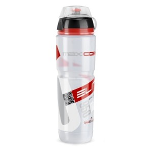Red Clear New Elite Crystal Ombra Cycling Water Bottle 550 ML