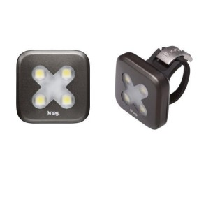Lumina fata Knog Blinder4 X-Cross, gri-metal